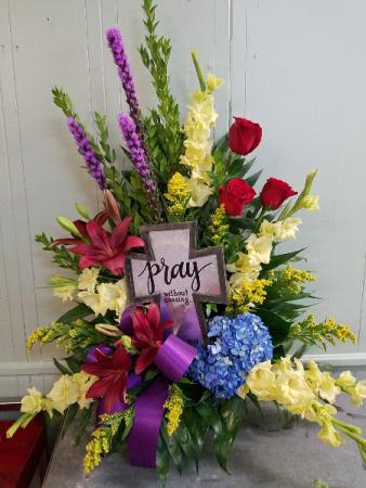 Cross of Inspiration Funeral Basket