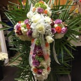 CROSS ON STAND funeral Flowers