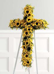 CROSS STANDING SPRAY SUN FLOWERS