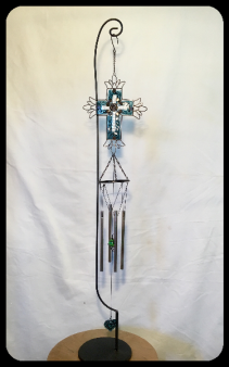 CROSS WIND CHIME WITH STAND