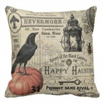 Crow on Pumkin Pillow #31