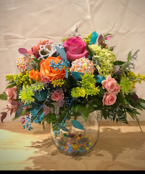 Crown candy Elevated Bubble Bowl  in Chesterfield, MO | ZENGEL FLOWERS AND GIFTS