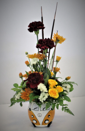 CRUISING YOUR WAY WITH LOVE AND THANKS FRESH FLOWER ARRANGEMENT