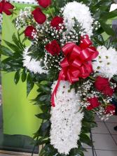 cruz blanca y roja # 3 cruz funeral