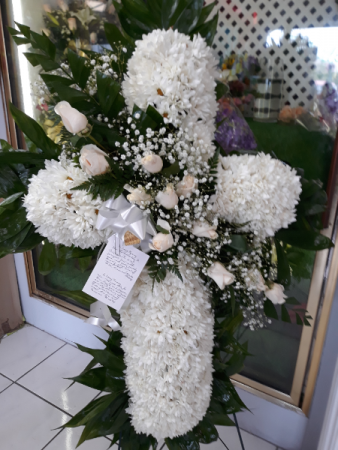 cruz blanca y roja # 1 cruz funeral