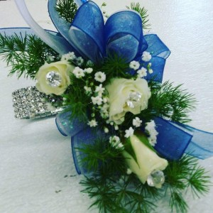 Crystal Blue Corsage Corsage in Hesperia, CA | FAIRY TALES FLOWERS & GIFTS