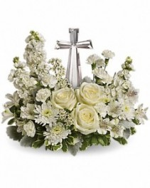 Crystal Cross arangment  funeral memorial