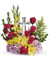 Crystal Cross Bouquet