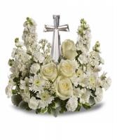 Peaceful Memories Crystal Cross Bouquet-Best Seller!