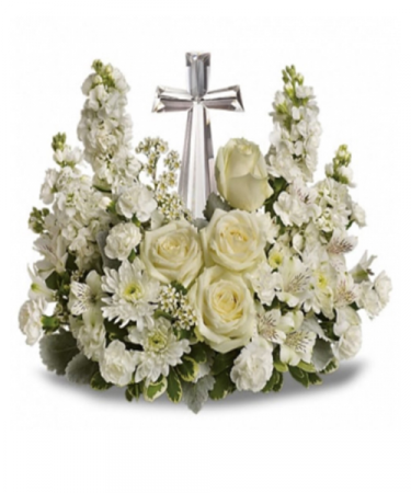 Peaceful Memories Crystal Cross Bouquet-Best Seller!