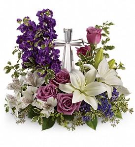 Crystal Cross Bouquet Fresh Arrangement