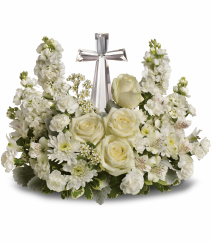 Crystal Cross by Teleflora Arrangement