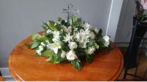Crystal Cross Funeral Arrangement