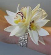 Crystal orchid corsage