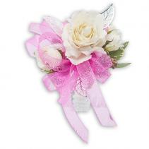 Crystal Pink Wrist Corsage