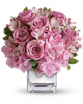Crystal Pinks And White Flower Arrangement