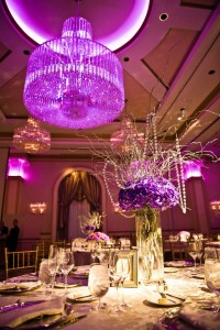 Crystal Sleek Table Centerpieces