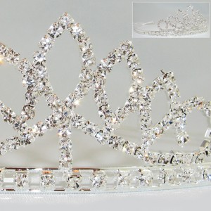 Crystal Tiara Headband Wedding Accessories in Brentwood Bay, BC | PETALS N BUDS BRENTWOOD BAY FLORIST
