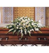 CT28-11 ALL WHITE CASKET SPRAY