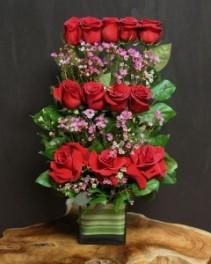 Cube Roses Arrangement