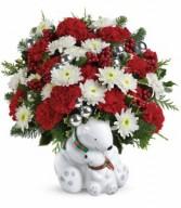 Cuddle Bears Bouquet PM Christmas Gift Arrangement