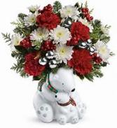 Cuddle Bears Christmas Arrangement