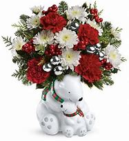 Cuddle Bears Christmas Arrangement in Osceola Mills, PA | COLONIAL FLOWER & GIFT SHOP
