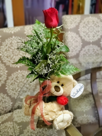Cuddle Buddy Rose Bouquet