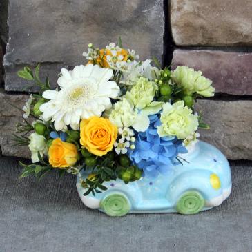 Cuddle Bug Me Blue! New Baby Boy Flowers