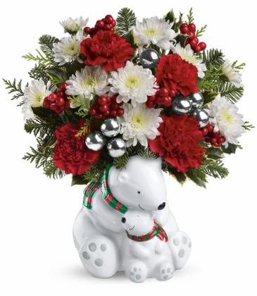 Cuddle Polar Bears fresh flowers