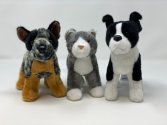 Cuddlers Clanger the Cattle dog, Scatter the Cat OR Quincey the Boston Terrier