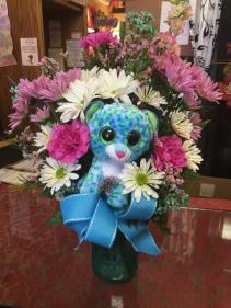 Cuddly Celebrations  Vase Bouquet