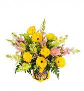 Cumpleanos Super Feliz Arreglo Floral