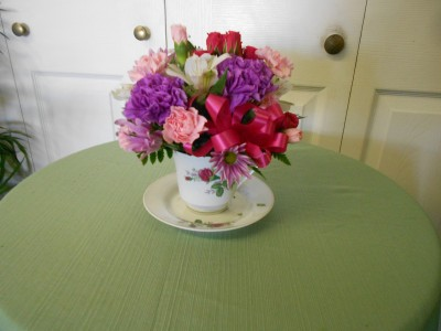 Cup of Cheer Teacup Arrangement
