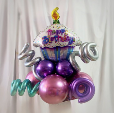 Cup cake balloon bouquet Gift and balloons