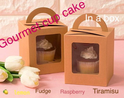 Cup cake in a box