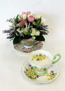 Cup of Blooms Collectors Tea Cup Arrangement