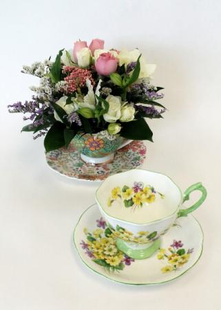 Cup of Blooms Collectors Tea Cup Arrangement