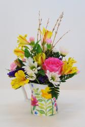 Cup of Color Flower Arrangement