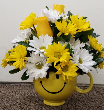 Cup of Happy Smiles  FHF1002 Keepsake Arrangement