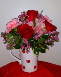 Cup of Love  Rose Mug Arrangement