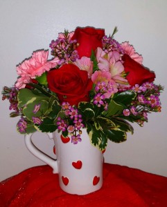 Cup of Love  Rose Mug Arrangement