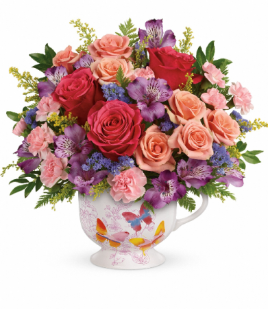 cup of smiles flower design ideas in mount pearl nl floral elegance