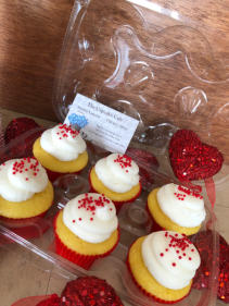 cupcake add on  Valentine's Day