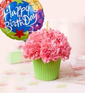 Cupcake And Happy Birthday Balloon Combo Everyday