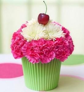 Cupcake in Bloom Arrangement