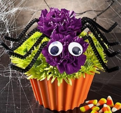 Cupcake in Bloom® - Spider Arrangement