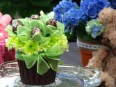 Cupcake of flowers brown2 Cupcake of flowers brown2