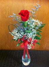 Cupid's Arrow Single Rose Vase