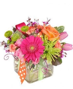 Happy Thoughts Colorful Bouquet in Kingston, TN | ROSEMARY'S FLORIST N CUPCAKE HAVEN